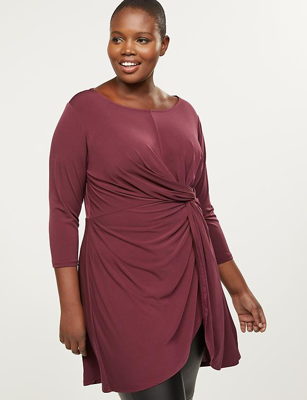 Twist-Front Tunic Top