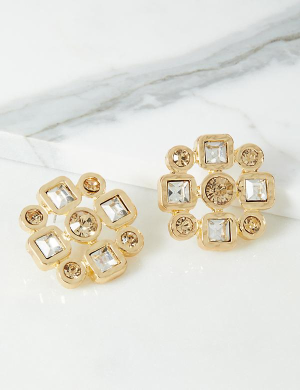 Geo Starburst Stud Earrings