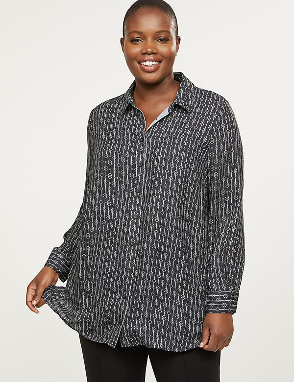 Soft Button-Front Tunic