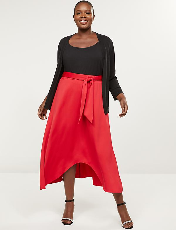 High-Low Midi Skirt
