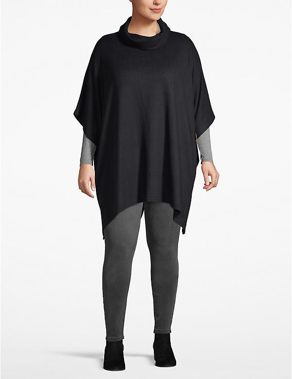 Cozy Touch Cowlneck Poncho