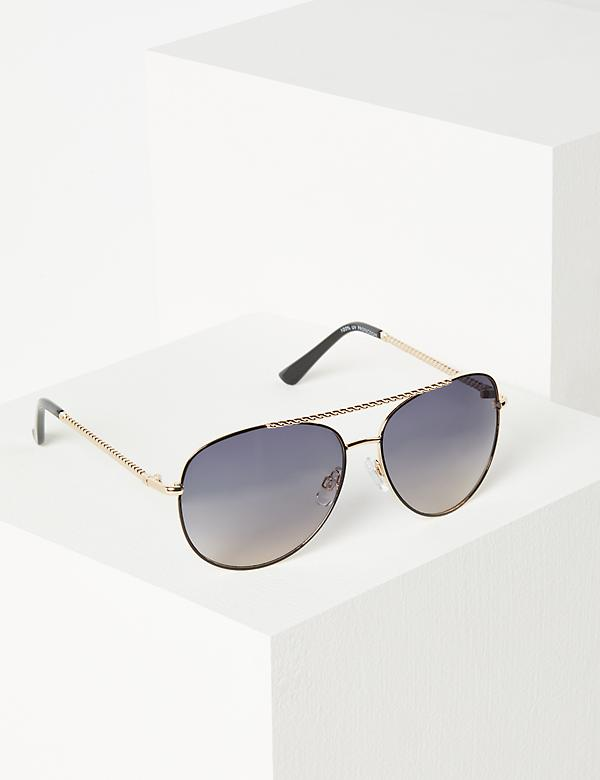 Twisted Aviator Sunglasses