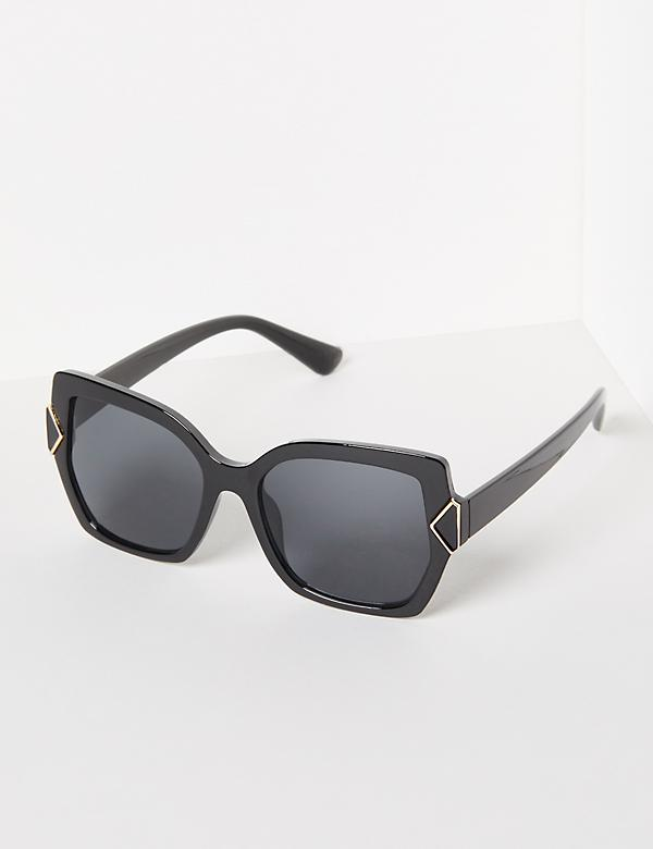 Oversized Square Mod Sunglasses