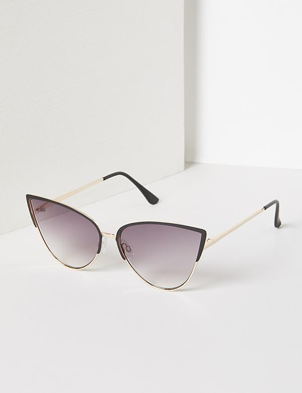Half-Frame Cateye Sunglasses