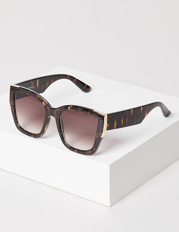 Metallic Detail Square Sunglasses