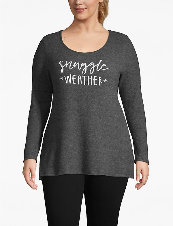 Cozy Touch Snuggle Weather Graphic Top