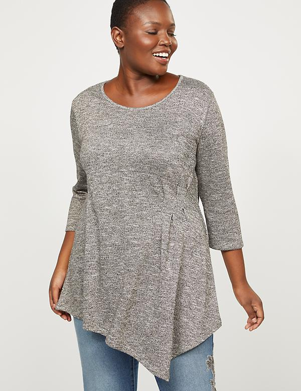 Asymmetrical Knit Tunic Top