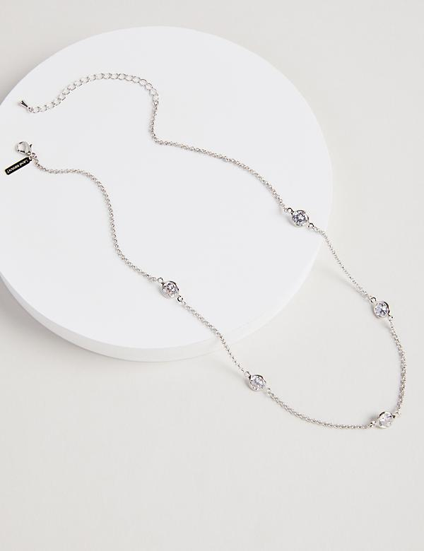 Faceted Stone Chain Necklace