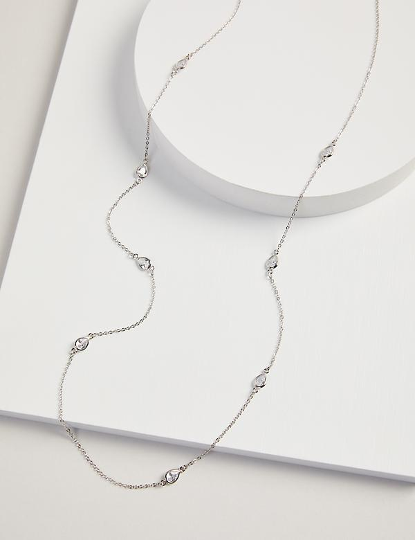 Teardrop Faceted Stone Necklace