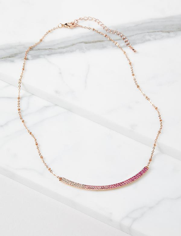Embellished-Bar Chain Necklace