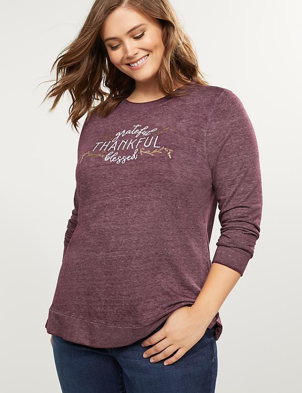 Grateful Thankful Blessed Graphic Sweatshirt