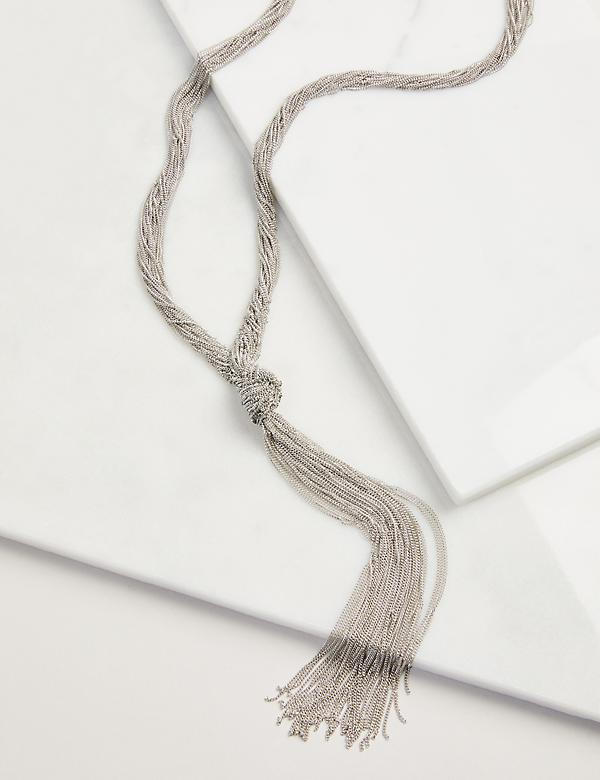 Multi-Strand Knot Y-Necklace