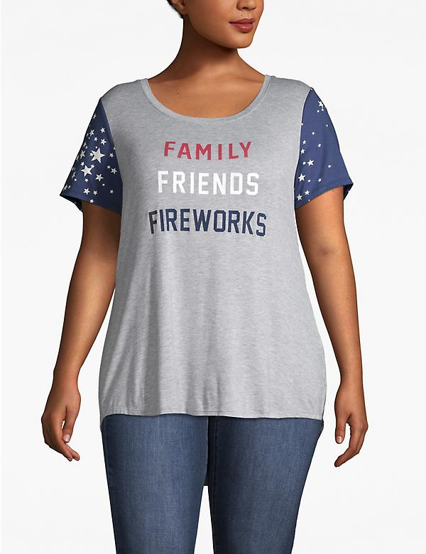 Family Friends Fireworks Graphic Tee