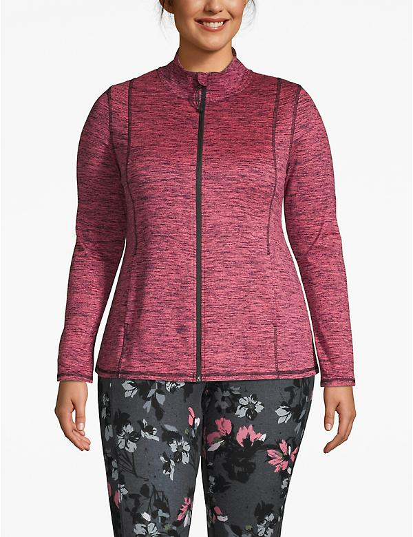 Active Spacedye Zip-Front Jacket