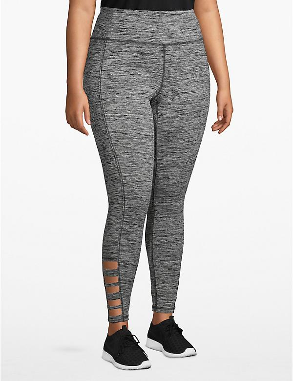 Active Spacedye 7/8 Legging - Strappy Hem
