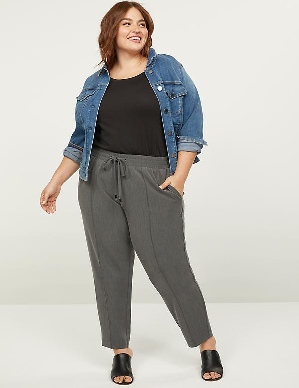 Tailored Stretch Pull-On Ankle Pant