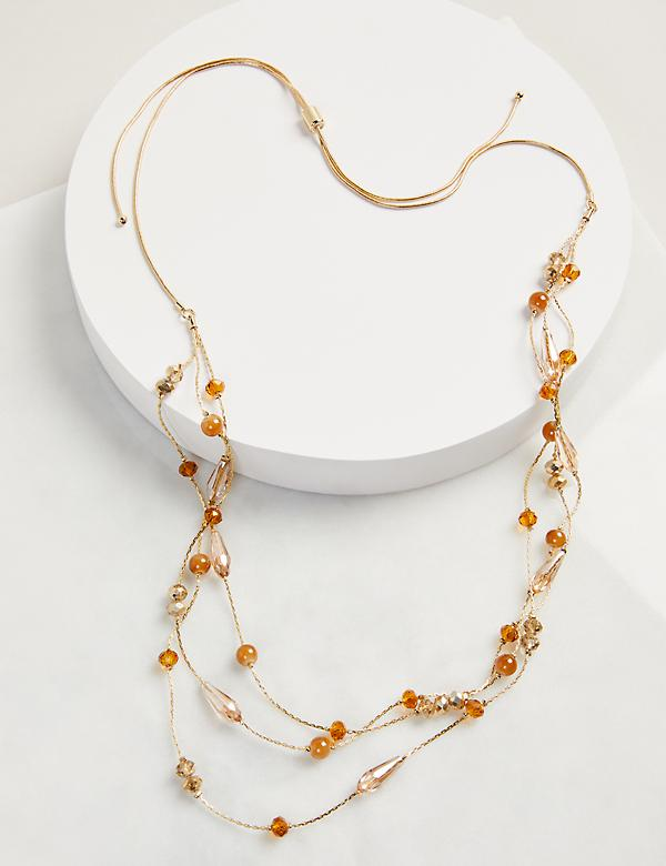 Adjustable Multi-Strand Beaded Necklace