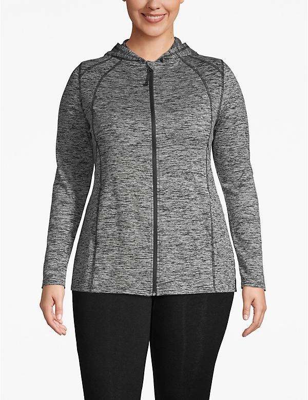 Active Spacedye Hooded Zip-Front Jacket