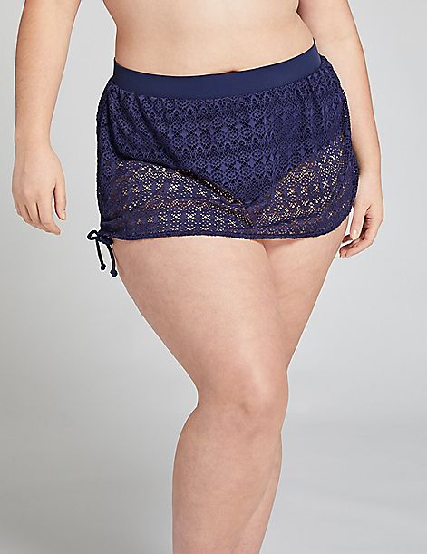 Crochet Drawstring Swim Skirt