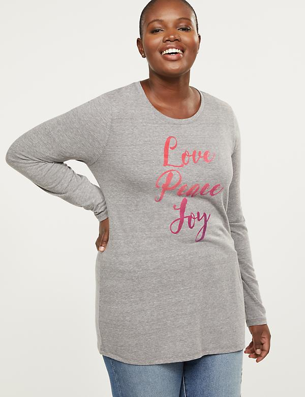 Love Peace Joy Ombre Graphic Tee