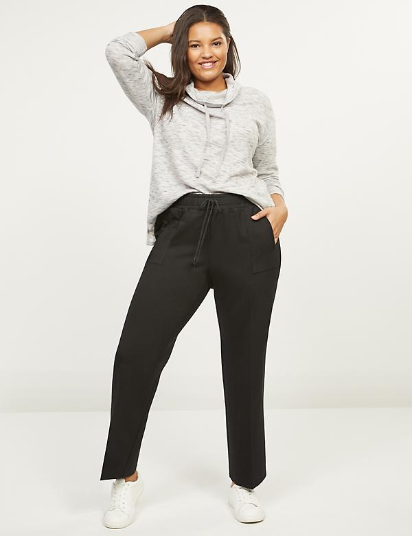 Ponte Ankle Track Pant