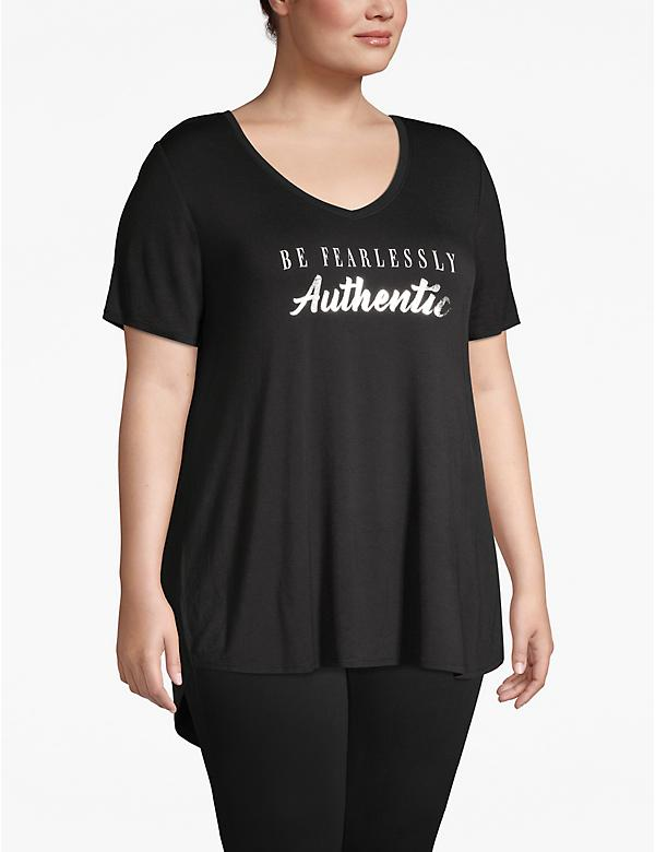 Be Fearlessly Authentic Foil Graphic Tee
