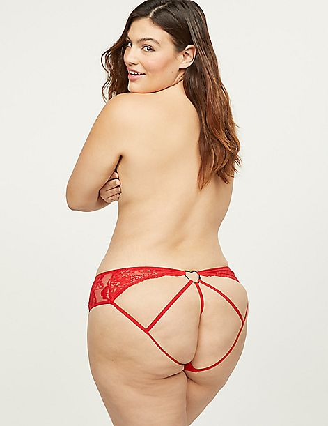 Open-Back Strappy Panty With Heart