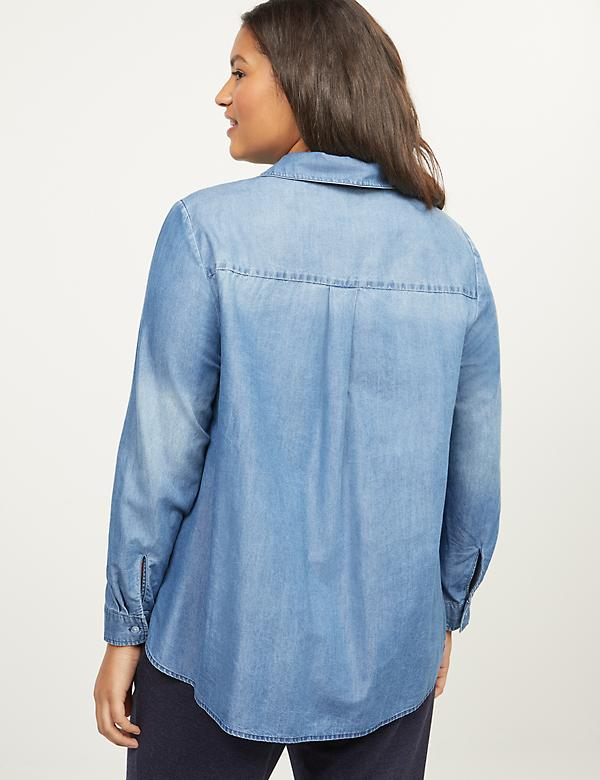Chambray Popover Shirt - alternate image