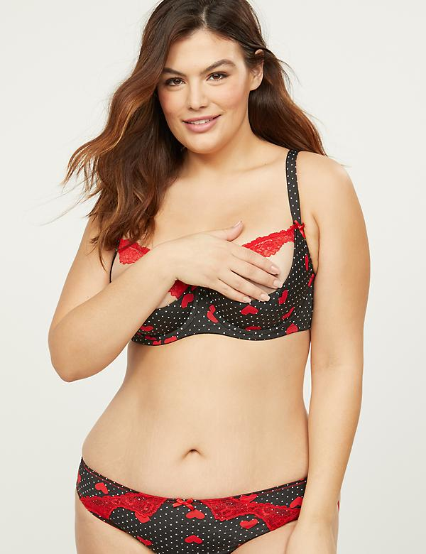 Quarter Cup Bra With Lace