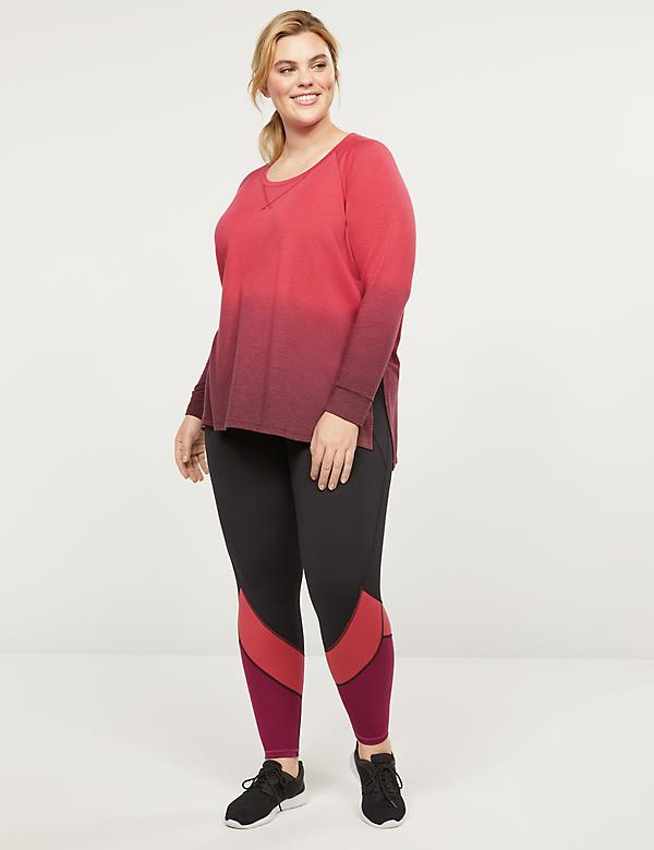 LIVI 7/8 Power Legging With Wicking - Colorblock Hem