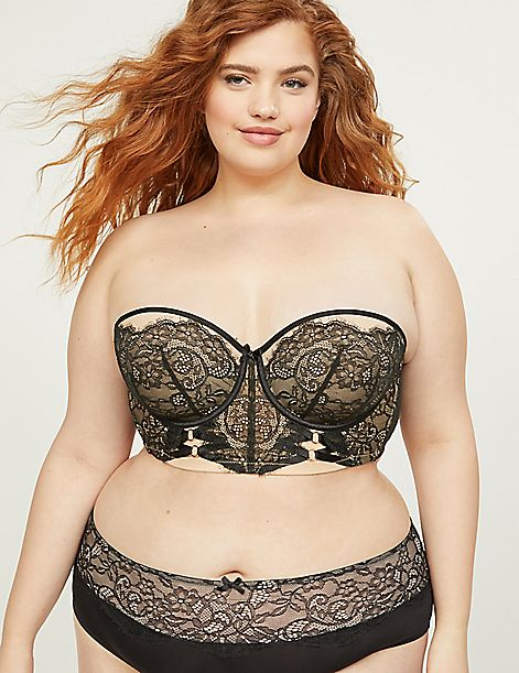 Lightly Lined Multi-Way Strapless Bra - Chantilly Lace