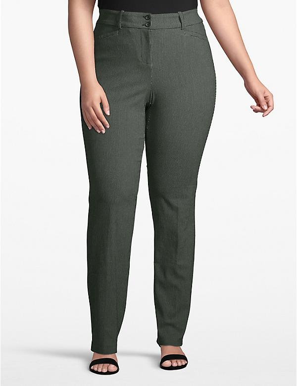 Madison Straight Pant - Textured Dot