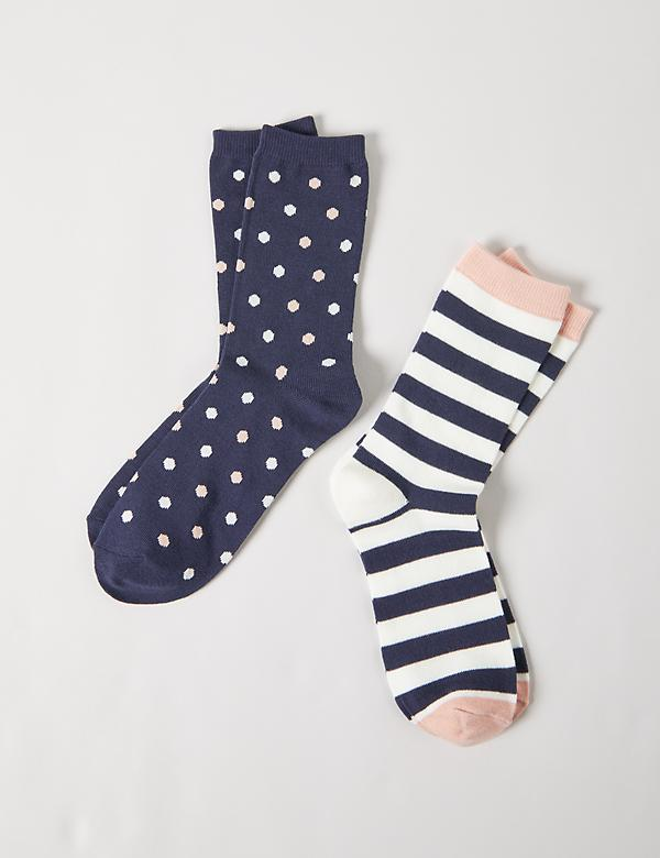 Crew Socks 2-Pack - Dotted & Striped