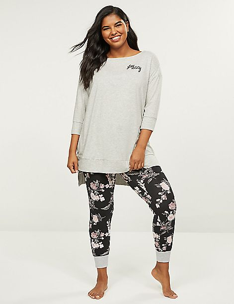 Dolman-Sleeve Tee & Legging PJ Set