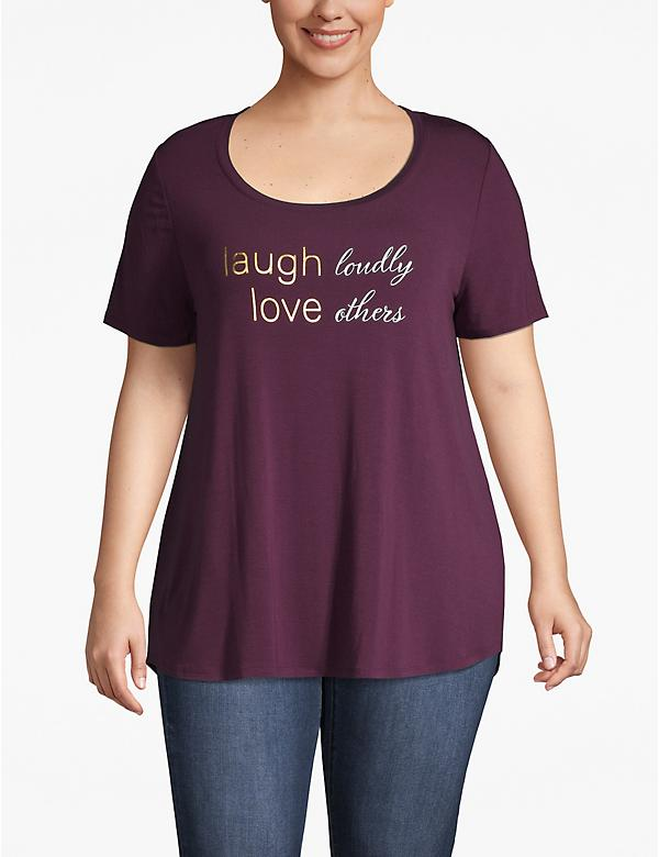 Laugh Loudly Love Others Graphic Tee