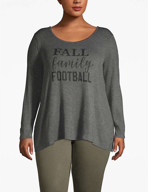 Graphic Long-Sleeve Tee - Fall Family Football