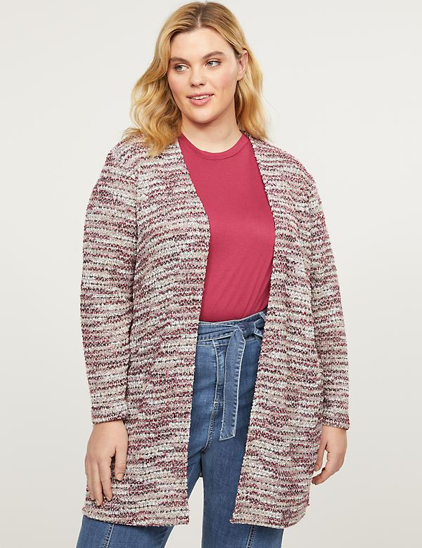 Textured Sweater Duster Overpiece