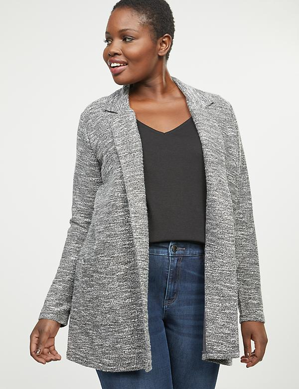 Textured Sweater Blazer