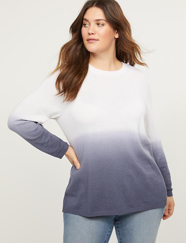 Dip-Dye Pullover Sweater