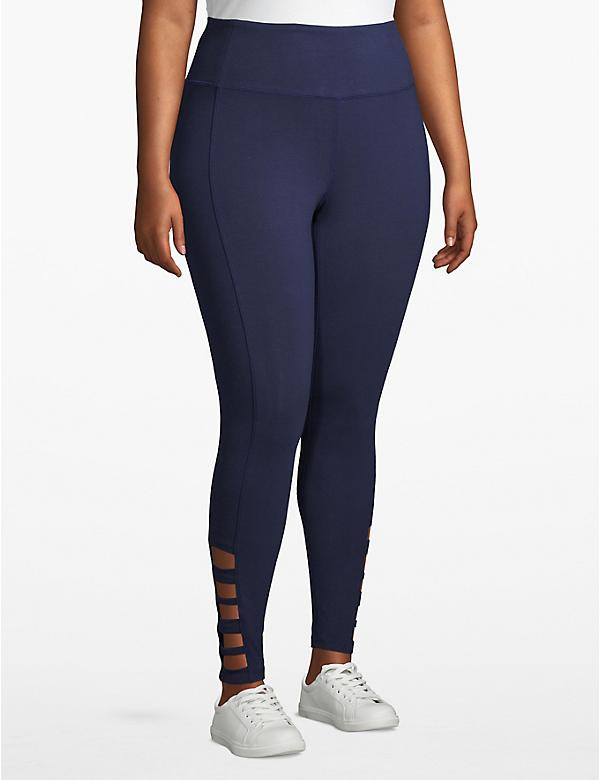 Active 7/8 Legging - Strappy Hem