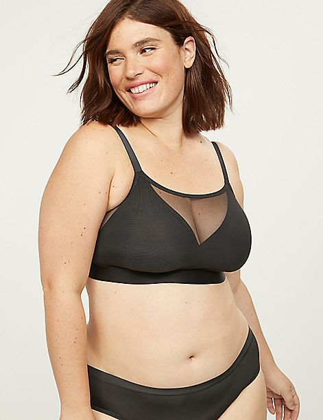 Mesh Unlined No-Wire Bra