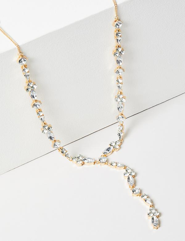 Sparkling Stone Y-Necklace