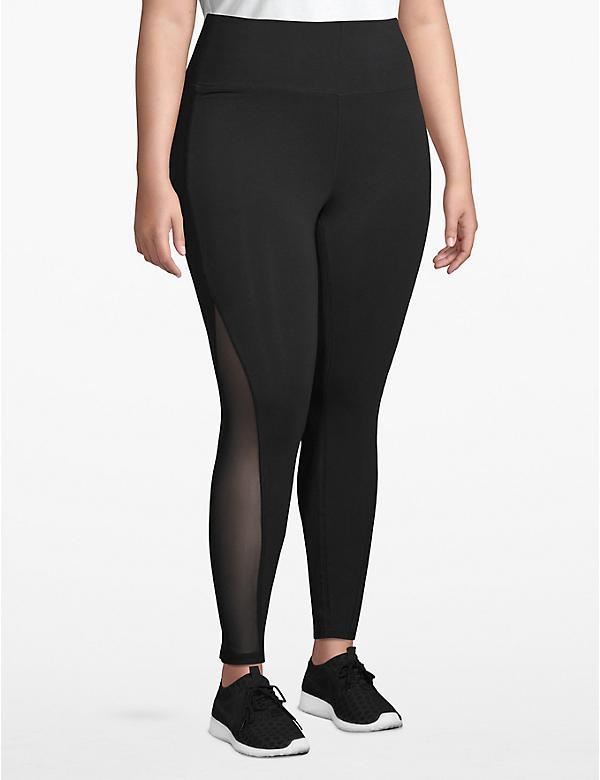 Active 7/8 Legging - Mesh Inset