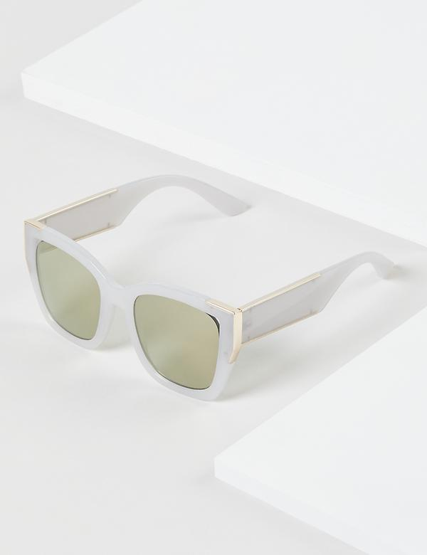 White D-Frame Sunglasses
