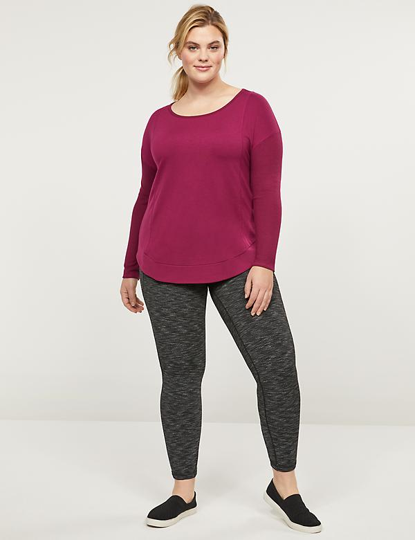 LIVI 7/8 Power Legging - Textured With Crisscross Hem