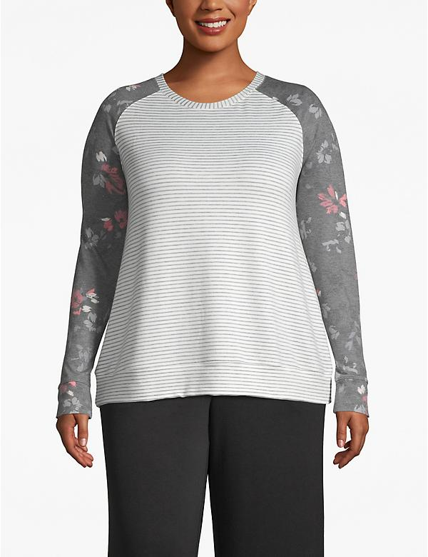 Active Mixed-Print Sweatshirt