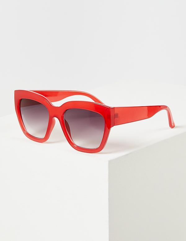 Red D-Frame Sunglasses