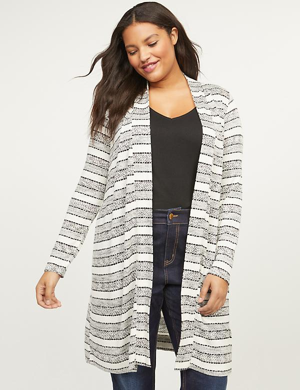 Striped Duster Overpiece