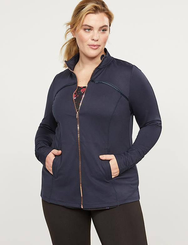 LIVI Jacket With Wicking - Pleated Trim