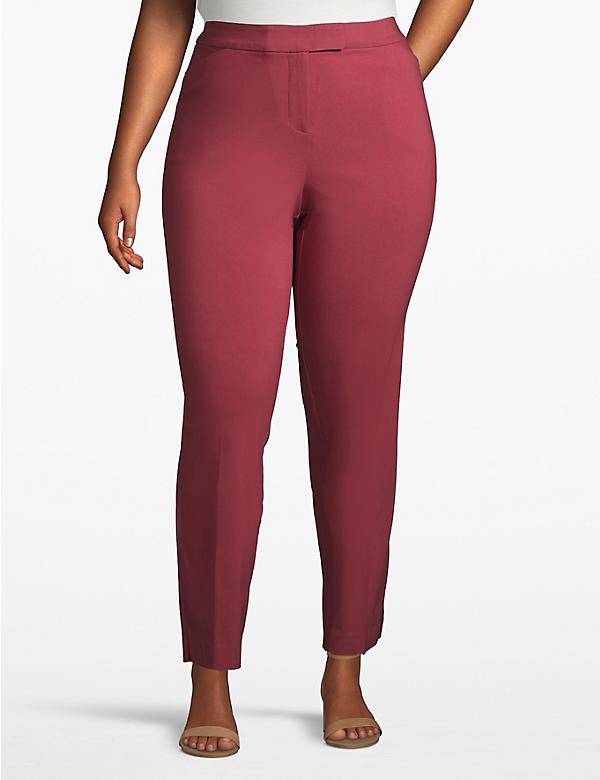 Madison Ankle Pant - Burnt Red